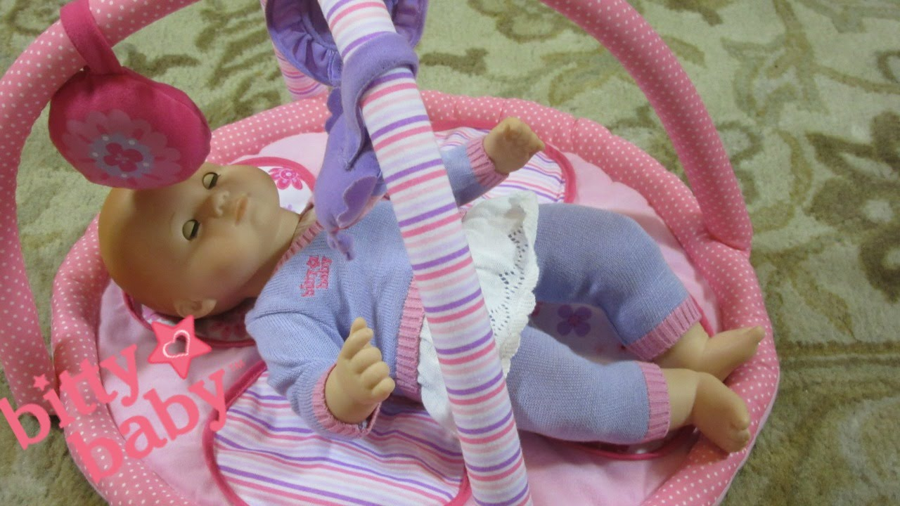 american girl bitty baby doll morning routine you me playtime mat unboxing youtube. Black Bedroom Furniture Sets. Home Design Ideas