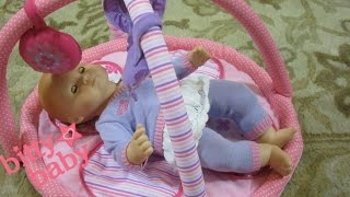 American Girl BITTY BABY doll morning routine + You & Me Playtime Mat unboxing