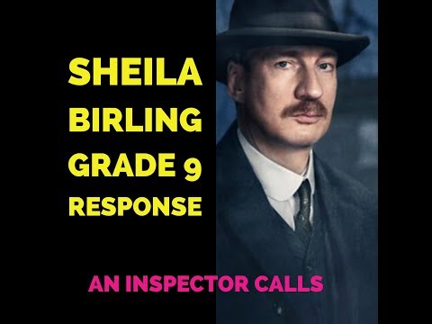 an inspector calls sheila An inspector calls might be understood in several contexts first, it is an example of immediate post-war drama, which means that it was written after world war two first, it is an example of immediate post-war drama, which means that it was written after world war two.