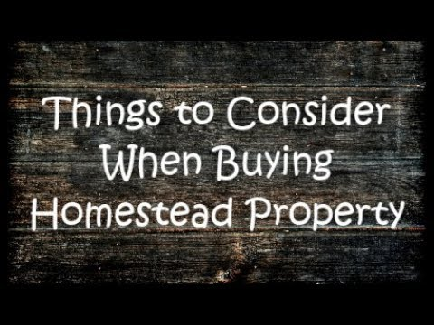 Considerations When Looking for Homestead Property