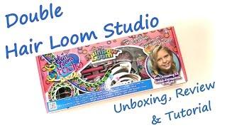 Double Hair Loom Studio Unboxing, Review & Tutorial by feelinspiffy (Rainbow Loom)