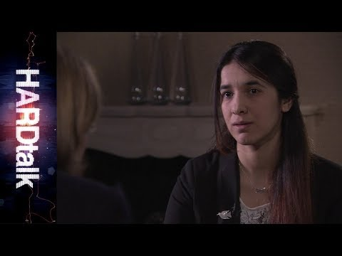 Nadia Murad speaking to BBC HARDtalk in 2016