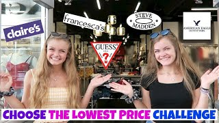 I'll Buy Anything If You Choose the Lowest Price Shopping Challenge ~ Jacy and Kacy