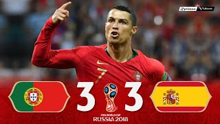 Portugal 3 x 3 Spain (C. Ronaldo Hat-trick) ● 2018 World Cup Extended Goals & Highlights HD