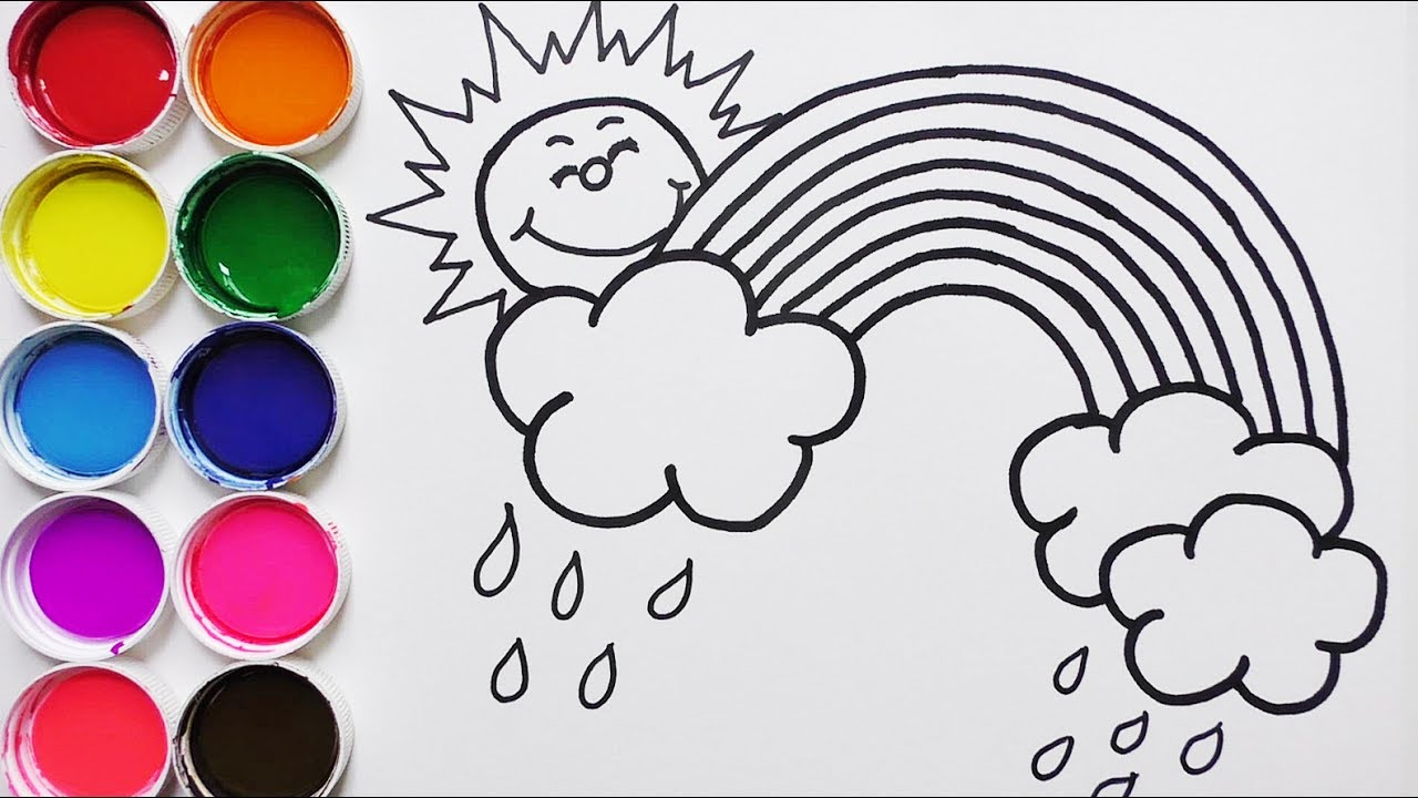 Dibuja y Colorea Arco Iris - Dibujos Para Niños -How to Draw a ...