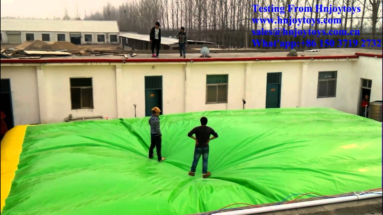 Inflatable Stunt Air Bag Jumping For