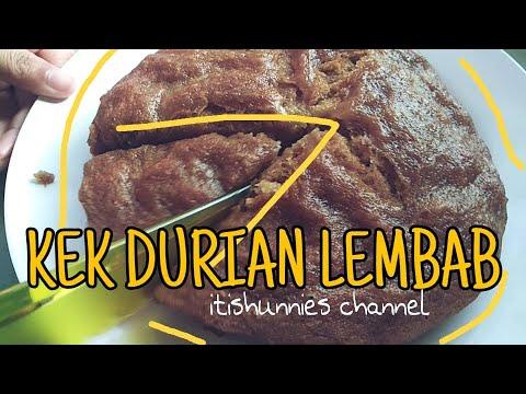Resepi Kek Durian Lembab Mudah Senang