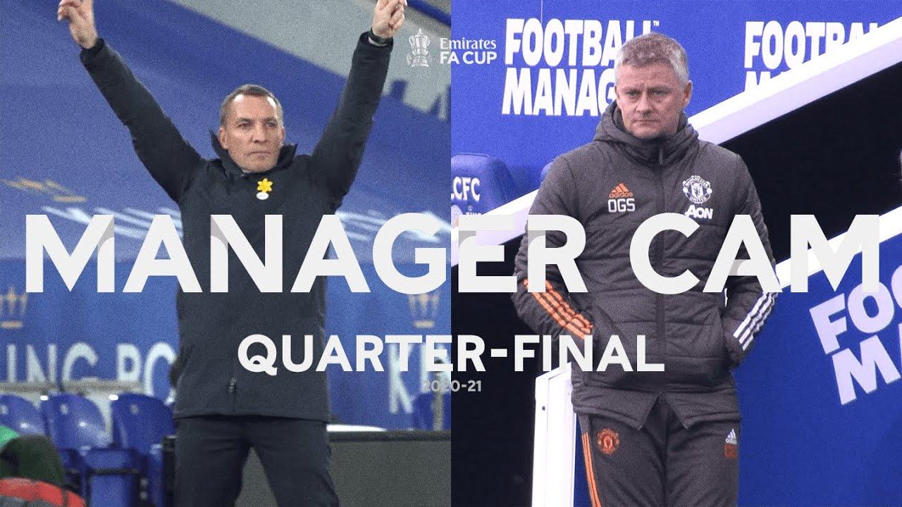 Brendan Rodgers v Ole Gunnar Solskjær | MANAGER CAM | Leicester City v Manchester United