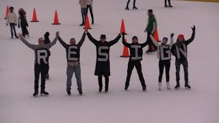 New Yorkers Take Over Trump Ice Rink w/Immigrant Rights Protest 2/19/18