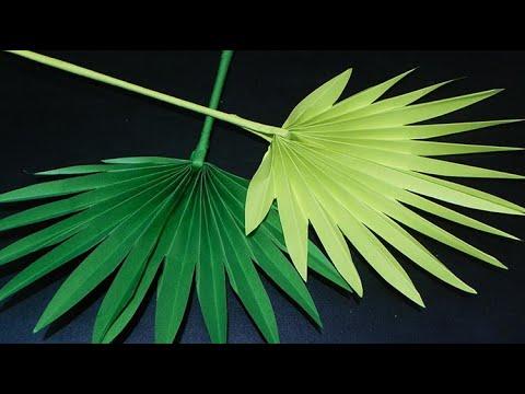 DIY PALM LEAVES [ paper craft tutorial ]