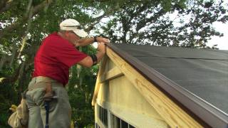 How to Install Roof Shingles on a Shed