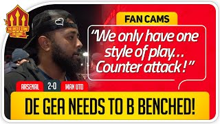 WHERE IS GOMES? Arsenal 2-0 Manchester United Fan Cam