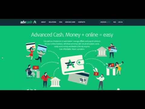 Exchange Bitcoin to US Dollar Euro  Create AdvCash MasterCard  (Multi-Currency Wallet)