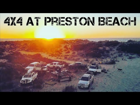 4x4ing at Preston Beach (Arctic Toyota Hilux) (Ford Ranger) (Holden Colorado) (Toyota Landcruiser)