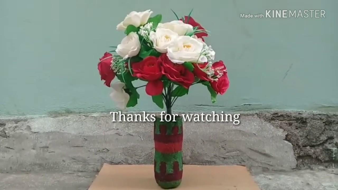 Cara Membuat Vas Bunga Dari Bubur Kertas Youtube