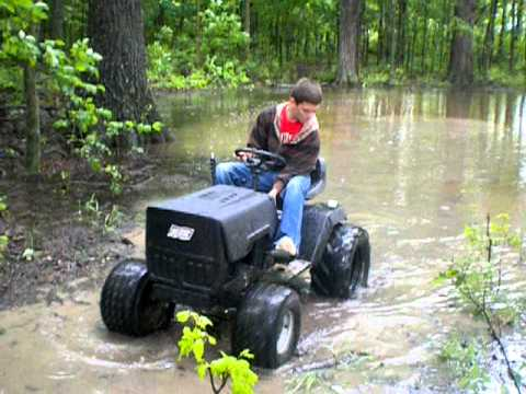 Lawn Tractor Mudding Youtube