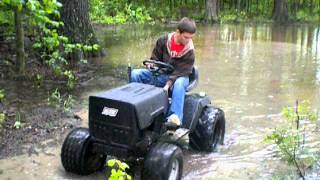 lawn tractor mudding