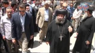 محافظ أسيوط يهنئ الأقباط باحتفالات العذراء فى دير درنكة