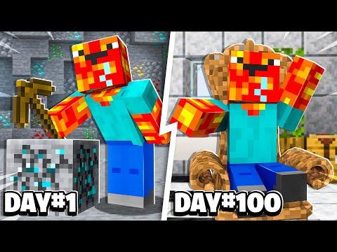 I Became Noob1234 for 100 Days! - Minecraft