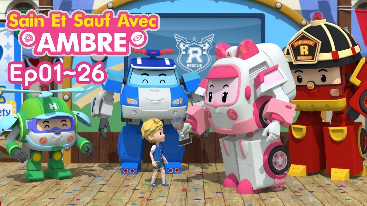 🚨Sain et Sauf avec Ambre | EP1~EP26 NON STOP | Dessin Animé pour les Enfants | Robocar POLI télé