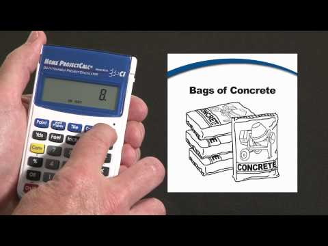 Home Projectcalc Bags Of Concrete And Volume How To