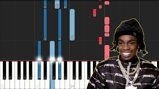 YNW Melly ft Kanye West - Mixed Personalities (Piano Tutorial)