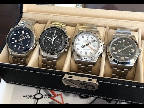 PAID WATCH REVIEWS - Michael's 4 Piece Combo 2 Omega And 2 Rolex JU1