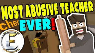 MOST ABUSIVE TEACHER EVER! | Teacher having a mental breakdown in school ( Unturned RP )
