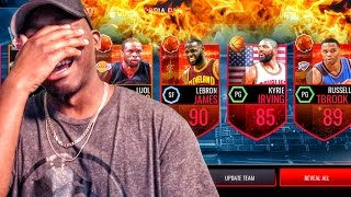 CORNUCOPIA PACK OPENING W/90+ LEGEND! NBA Live Mobile 16 Gameplay Ep. 42
