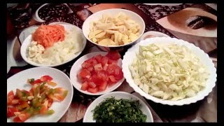 Постное блюдо - овощное рагу