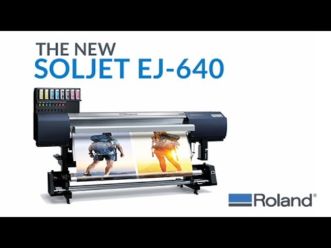 The SOLJET EJ-640 Large Format Inkjet Printer