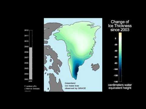 Ice Mass Loss on Greenland, 2003-2011