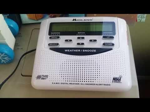 My first Emergency alert on weather radio! Wind chill warning