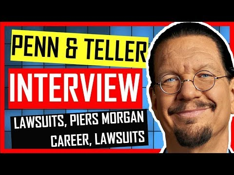 Penn and Teller - PIERS MORGAN, BULLSHIT, LAWSUITS & CAREER- INTERVIEW by Kevin Durham