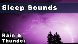 Peaceful RAIN and THUNDERSTORM Sounds - 12 Hours - Gently Ease Into A Deep Restful Sleep