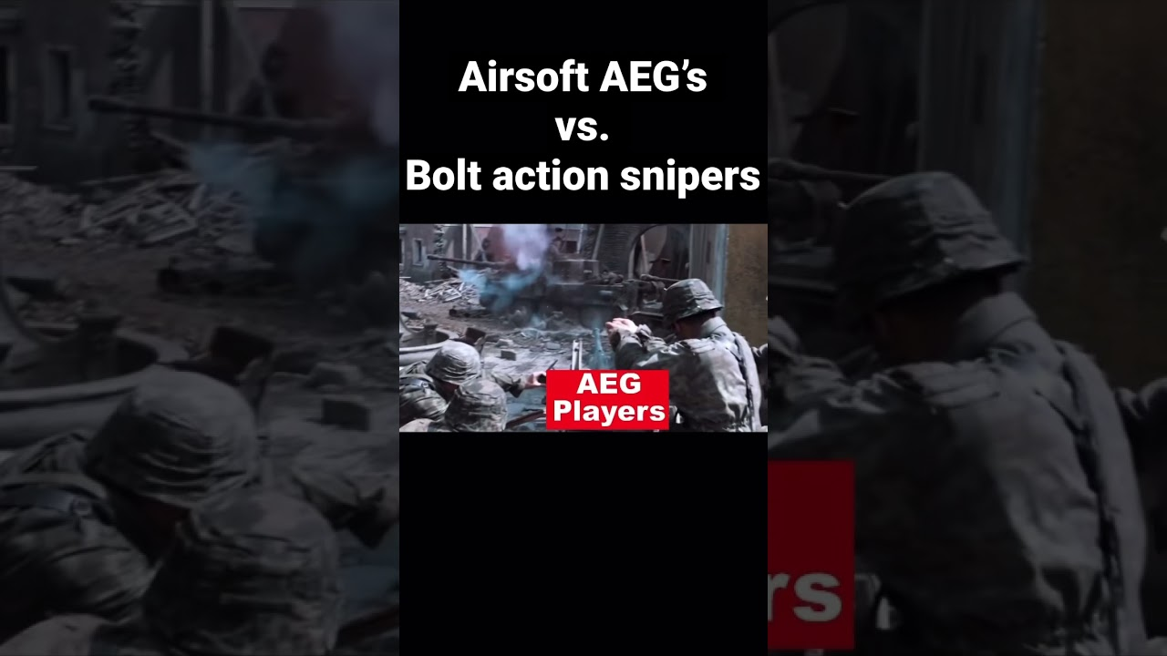 Airsoft AEG's vs. Bolt Action Sniper Rifles #shorts