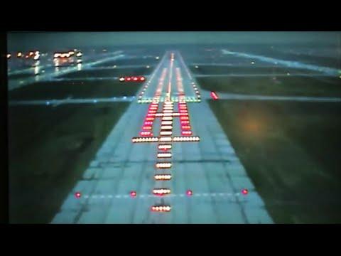 Lufthansa Boeing 747-8. Landing in Frankfurt Seen from Onboard Camera