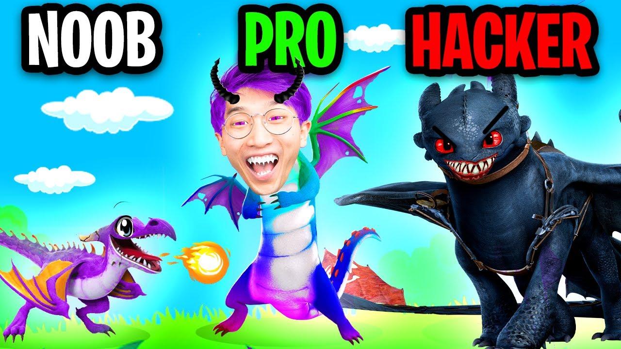NOOB vs PRO vs HACKER In HUNGRY DRAGON! (MAX LEVEL DRAGON UNLOCKED! *EXPENSIVE!*)
