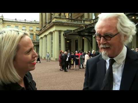 Comedian Billy Connolly becomes a Sir