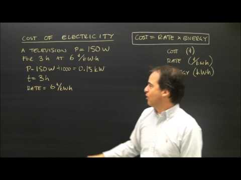 Calculating the Cost of Electricity Usage in Physics - YouTube