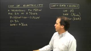 Calculating the Cost of Electricity Usage in Physics