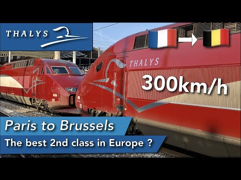 Thalys 2nd class experience ! The best 2nd class in Europe ?