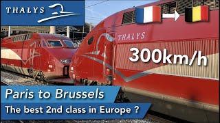 TRIP REPORT | Thalys (2ND CLASS) | PBKA | Paris Gare du Nord🇫🇷 - Brussels Zuid 🇧🇪