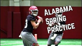 Alabama Football Spring Practice Highli...