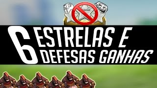 Clash Of Clans - Mais uma Guerra Top!! 6 Defesas Seguidas e PTS de Surgical Hogs | YoshInPlay
