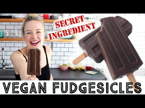 VEGAN FUDGESICLES! 5 mins Fudgey chocolate popsicles
