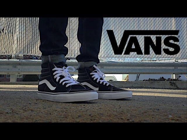 vans sk8 hi black style