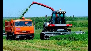 Длинный мультфильм про грузовик и комбайн, работающие в поле