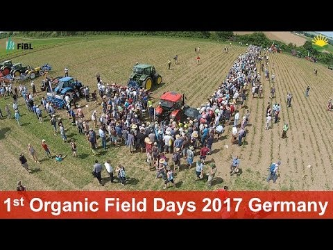 First Organic Field Days at the Hessian State Domain Frankenhausen, Germany