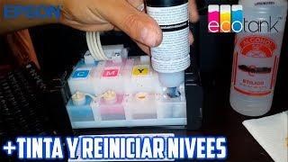COMO RELLENAR TINTA Y REINICIAR NIVELES DE IMPRESORA MULTIFUNCIONAL EPSON L355